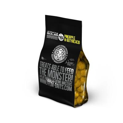 Бойлы насадочные FFEM High Attractive Boilies Pineapple N-Butyric/Ананас и Масляная Кислота 16mm