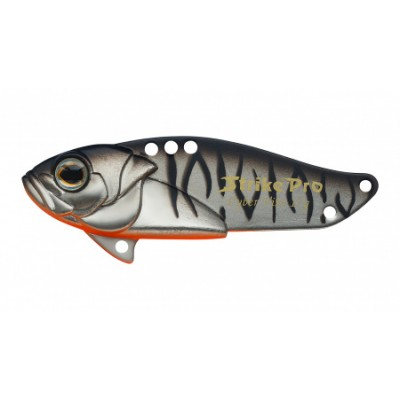 Блесна-Цикада Strike Pro Cyber Vibe 45, 45 мм, 9,1 гр, цвет: Grey Shadow Mat Tiger, (JG-005C#A243ES)