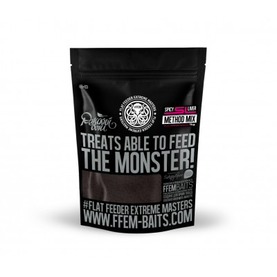 Методная прикормка FFEM Method Mix Spicy Liver /Печень и Чеснок 1 кг