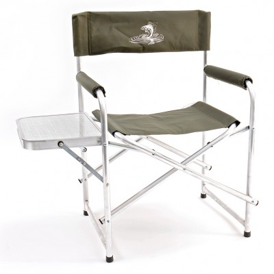 Кресло складное базовый вариант алюминий со столиком