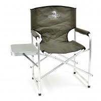 Кресло складное Кедр алюминий со столиком (пластик)