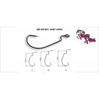 Офсетный крючок Crazy Fish Wide Range Offset Joint Hook №6 10 шт