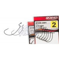 Офсетный крючок OWNER 5109 J-Light Worm Hook #1