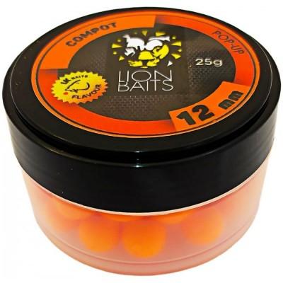 Бойлы плавающие Lion Baits  Pop-Up 12мм  Compot /Сладкий компот