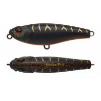 Воблер Стикбейт Strike Pro Lipstick 45, 45 мм, 3,6 гр, Тонущий, цвет: A208S Black Mat Tiger, (EG-141#A208S)