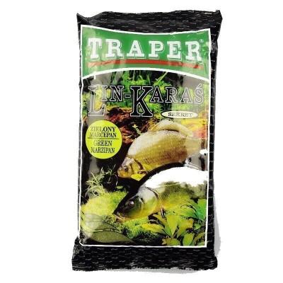 Прикормка Traper SEKRET 1kg Линь-Карась зеленый марципан