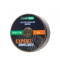 Поводковый материал в оплётке Carp Pro 25lb 7м коричневый