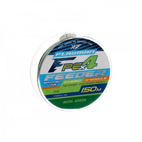 Шнур Flagman PE Hybrid F4 Feeder 150m Moss Green 0,14мм 7,0kg