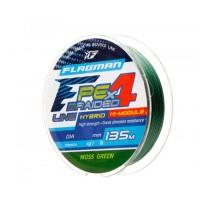 Шнур Flagman PE Hybrid F4 135m MossGreen 0,12mm. 6,4кг/14lb
