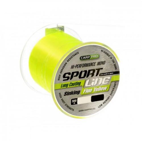 Леска Carp Pro Sport Line Fluo Yellow 300м 0.235мм