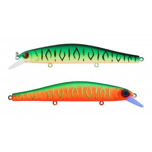 Воблер Минноу Strike Pro Inquisitor 110SP, 110 мм, 16,2 гр, Загл. 0,8м.-1,5м., Нейтральный, цвет: GC01S/A230S Double Mat Tiger/Watermelon Mat Tiger, (EG-193B-SP#GC01S/A230S)
