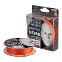 Шнур плетеный Akkoi Mask Ultra X4 130м оранжевый, 0,18мм, 7,71кг