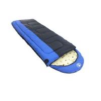 Спальный мешок Balmax Alaska Expert series 250х90 см с подголовником (-5°С) Синий
