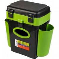 Ящик FishBox двухсекционный 10л зеленый Helios