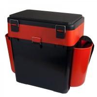 Ящик FishBox двухсекционный 19л оранжевый  HELIOS