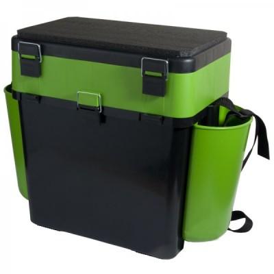 Ящик FishBox двухсекционный 19л зеленый  HELIOS