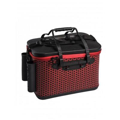 Ящик рыболовный с держателями удилищ размер М красный