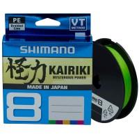 Плетеный шнур Shimano Kairiki 8 PE 0.16мм 150м, зеленый
