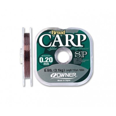 Леска OWNER BROAD CARP SPECIAL, коричневая, 100 м, 0.33mm