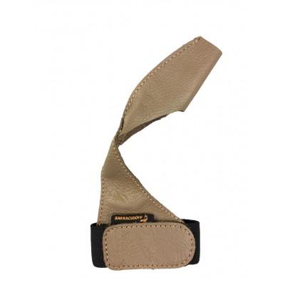 Напальчник для карповой рыбалки BARRACUDOFF (размер L) из натуральной кожи кофейный