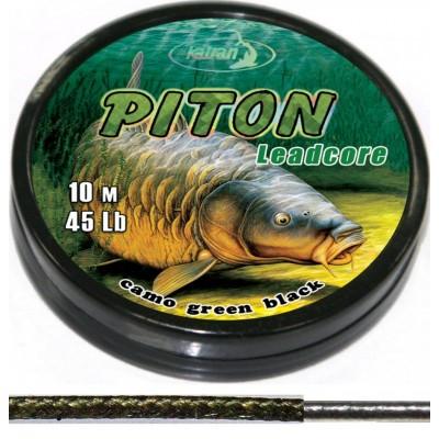 Лидкор Katran PITON 35Lb 10м камуфляж зеленый