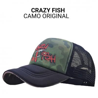 Кепка тракер Crazy Fish Camo Original M универсальный размер