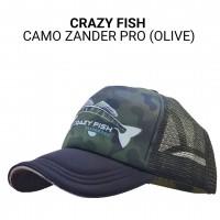 Кепка тракер Crazy Fish Camo Zander Pro ol M универсальный размер