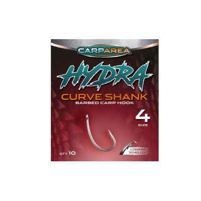 Крючки карповые Carparea HYDRA Curve Shank №4