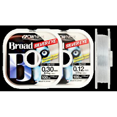 Леска OWNER BROAD Silver Eye, светло-серый, 100м, 0.10mm