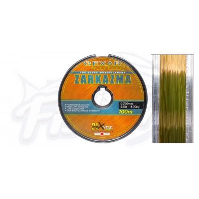 Монолеска Pontoon21 Zarkazma, 0.12мм., 1.35кг, 3.0Lb, 100м, коричневая