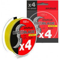 Шнур плетеный Nautilus CrossBlade X4 Fluo Yellow d-0.20 10.0кг 22lb 150м