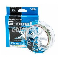Плетеный шнур YGK G-Soul Super Jig Man X4, #0.6, 200 м, многоцветный