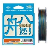Плетеный шнур YGK Veragass PE х4, #1.2, 150 м, многоцветный