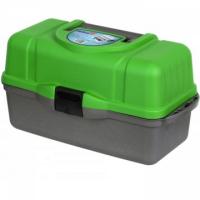 Ящик рыболова трехполочный зеленый Helios