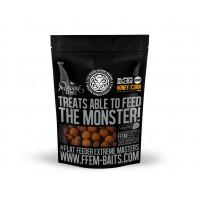 Пылящие бойлы FFEM Soluble Boilies Honey Corn/Кукуруза и Мед 22mm 1кг