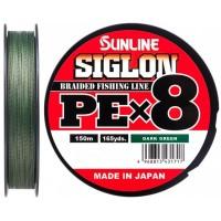 Шнур Sunline Siglon PE х8 150m #0.6/0.132mm 10lb/4.5kg темно-зеленый