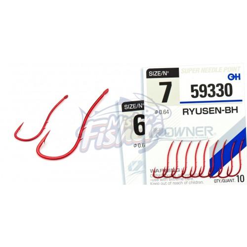 Крючок Owner Ryusen BH 59330 red №10 12шт
