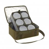 Термо-сумка Aquatic С-42Х с банками 6 шт. (цвет: хаки, размер: 32х23х15 см.)