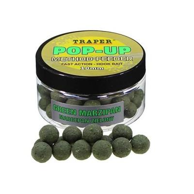 Бойлы плавающие Traper Pop-Up Method Feeder 10мм Marcepan Zielony /Зеленый Марципан