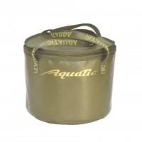 Ведро AQUATIC В-05Х для замешивания корма герметичное, с крышкой (цвет: хаки)